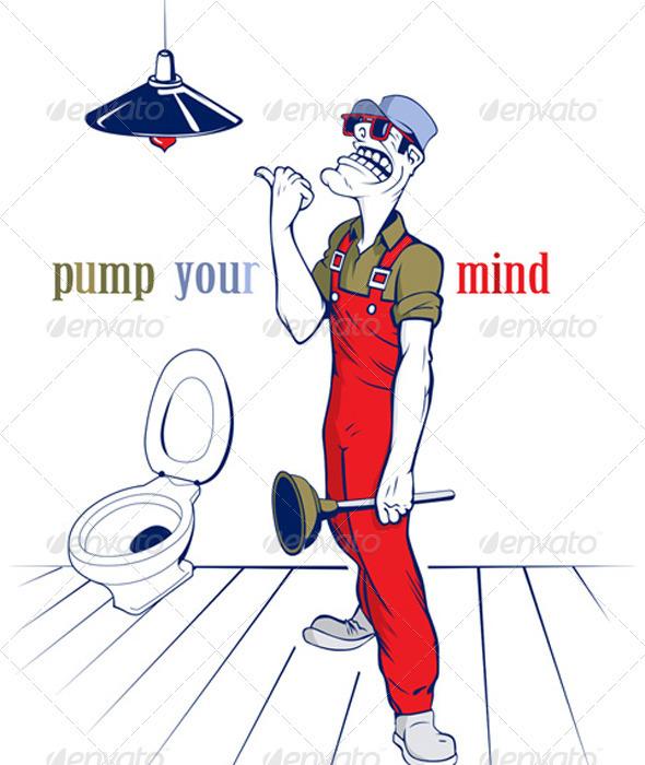 Cartoon Plumber Man  - People Characters