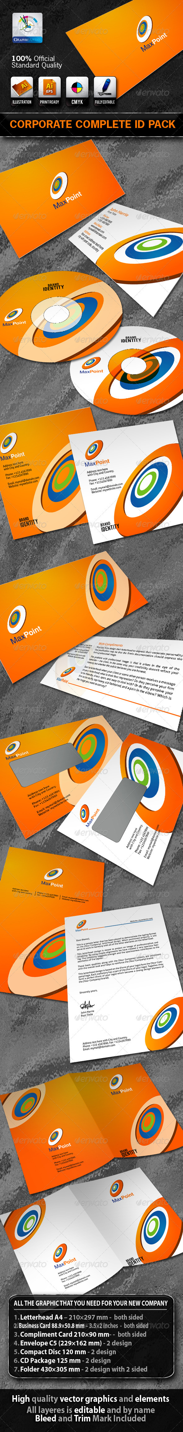 MaxPoint Business Corporate ID Pack With Logo - Stationery Print Templates