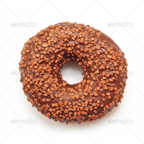 chocolate doughnut - Stock Photo - Images