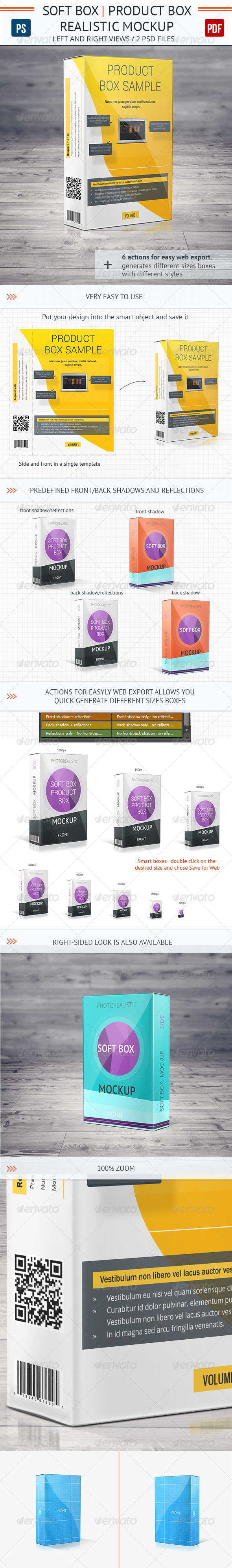 Realistic Soft Box Product Mock-Up - Packaging Product Mock-Ups