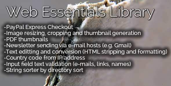 Web Essentials Library - CodeCanyon Item for Sale