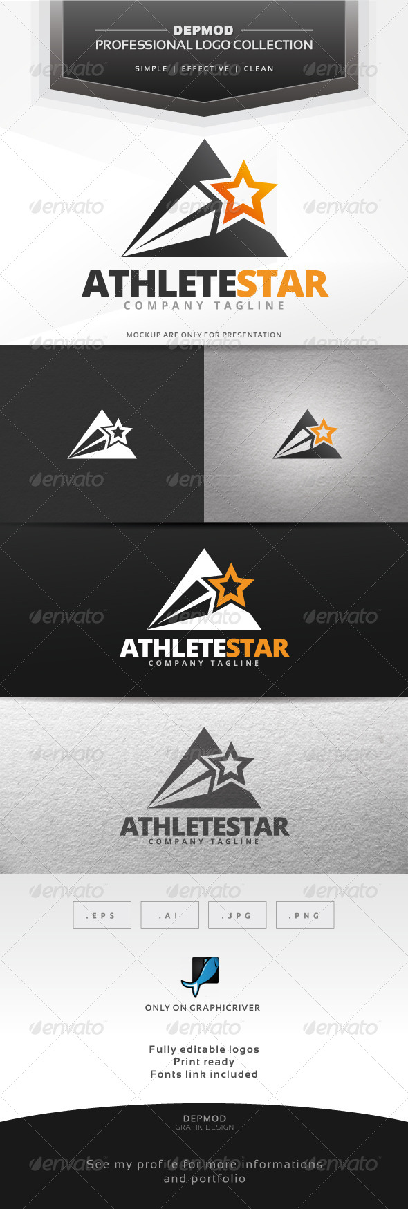 Athlete Star Logo