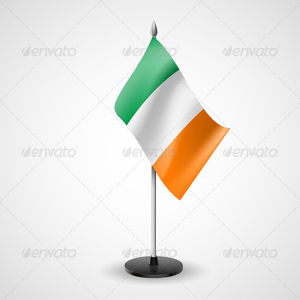 Table Flag of Ireland - Miscellaneous Vectors