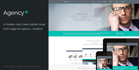 AgencyPlus -  Multi-Purpose Muse Template - Corporate Muse Templates