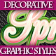 Set of Colorful Text Graphic Styles for Design. - GraphicRiver Item for Sale