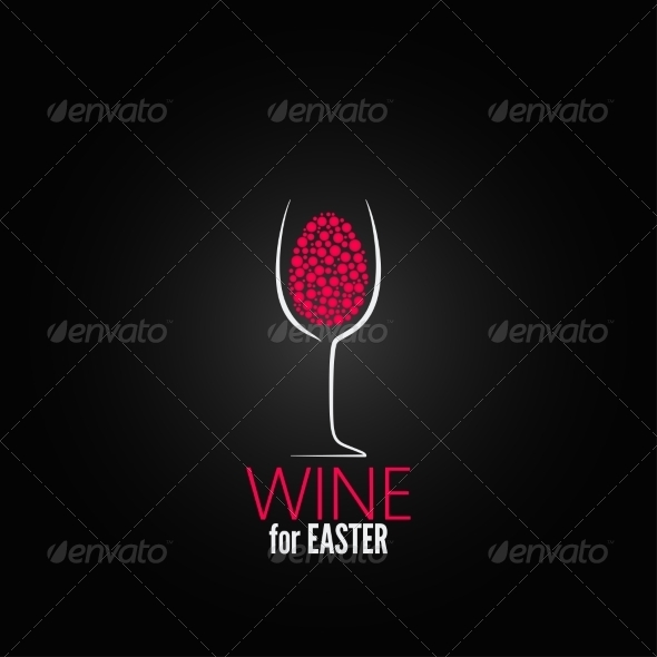 Wine Easter Design Background - Food Objects