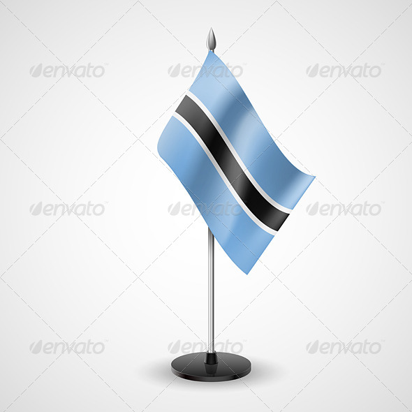 Table Flag of Botswana - Miscellaneous Vectors