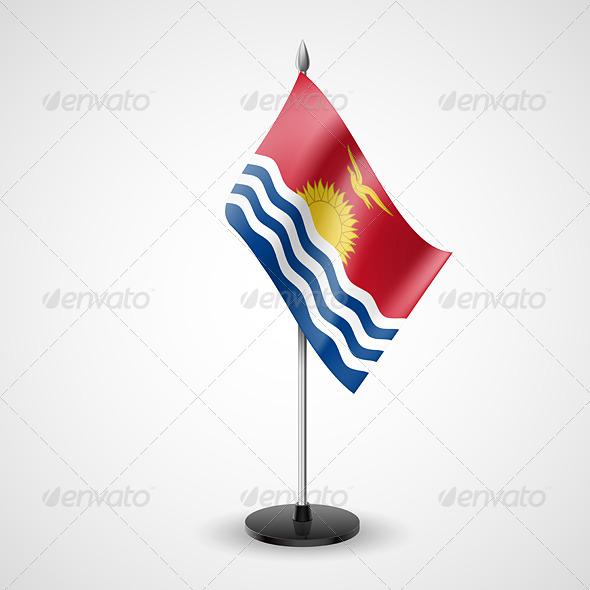 Table Flag of Kiribati - Miscellaneous Vectors