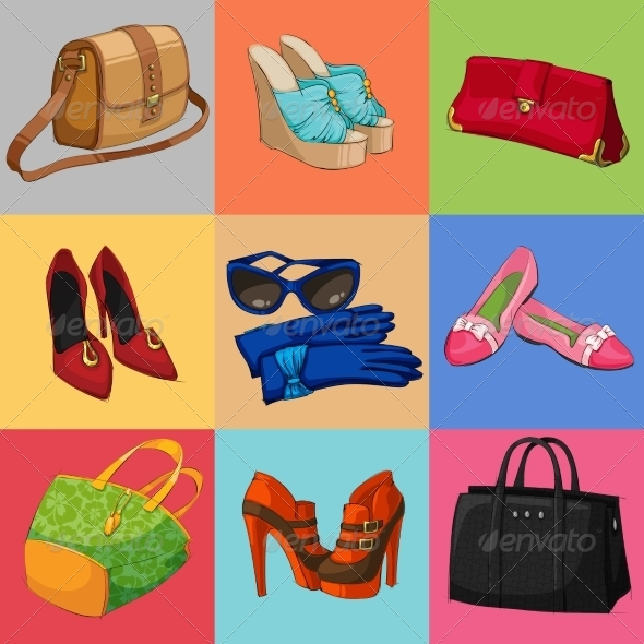 Women Bags Shoes and Accessories Collection - Retail Commercial / Shopping