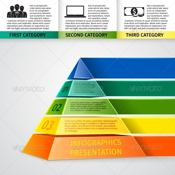 Pyramid 3D Infographics - Concepts Business
