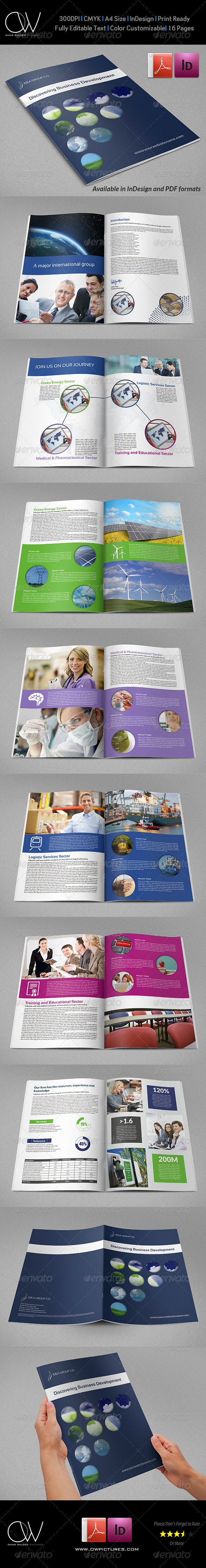 Corporate Brochure Template Vol.33 - 16 Pages - Corporate Brochures