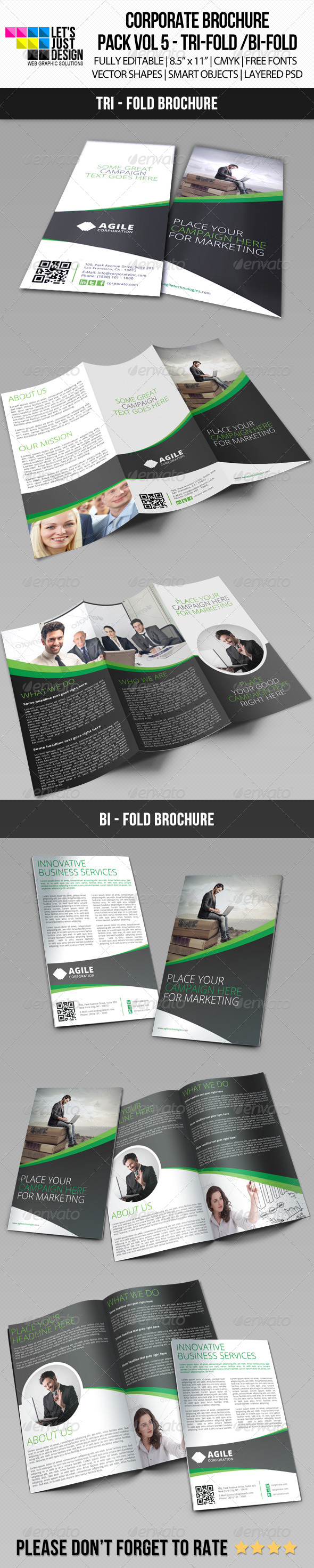 Creative Corporate Brochure Bundle Vol 6 - Corporate Brochures