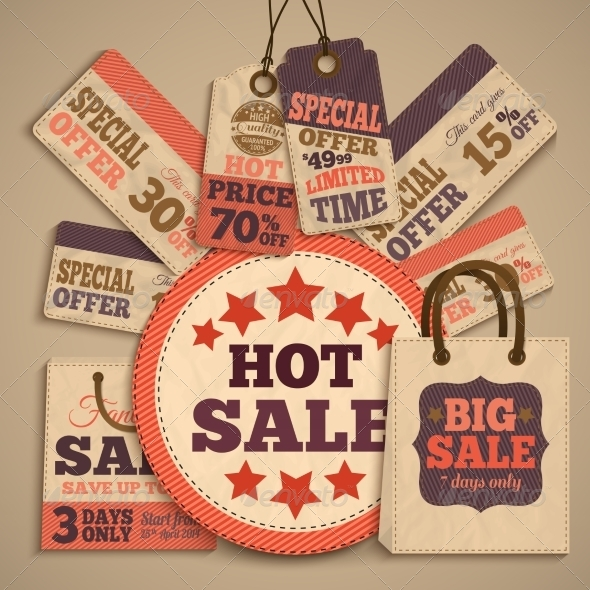 Cardboard Sale Design Concept - Retail Commercial / Shopping