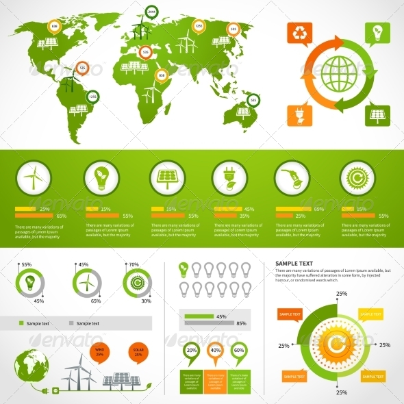 Energy Infographics Layout Template - Infographics