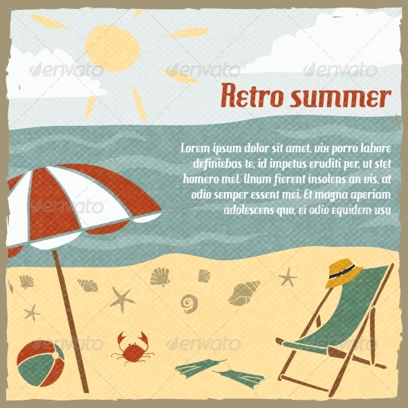 Summer Vacation Background Retro - Backgrounds Decorative