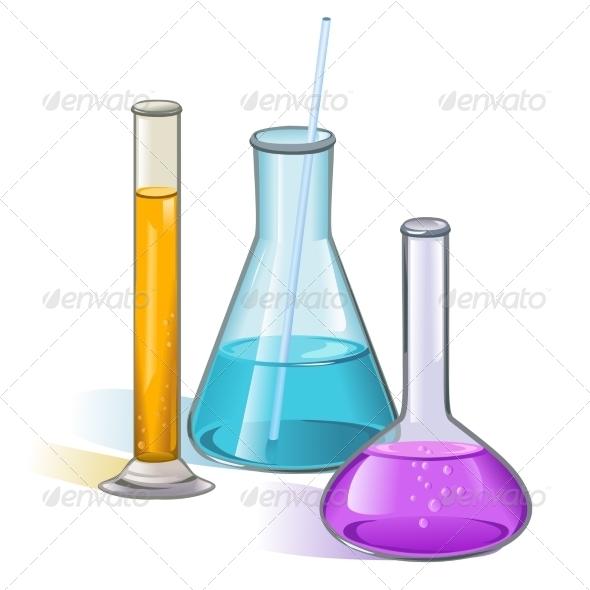 Laboratory Flasks Glassware Concept - Health/Medicine Conceptual