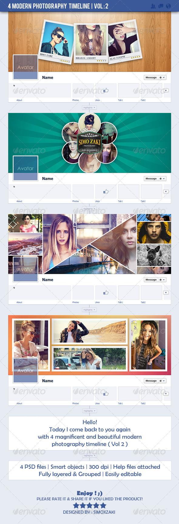 4 Modern Photography Timeline - Vol: 2 - Facebook Timeline Covers Social Media