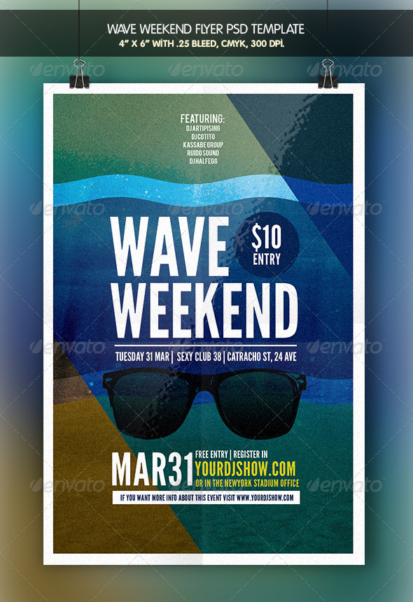 Wave Weekend | Flyer Template - Clubs & Parties Events