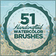 51 Handcrafted Watercolor Brushes - GraphicRiver Item for Sale