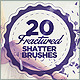 20 Fractured Shatter Brushes - GraphicRiver Item for Sale