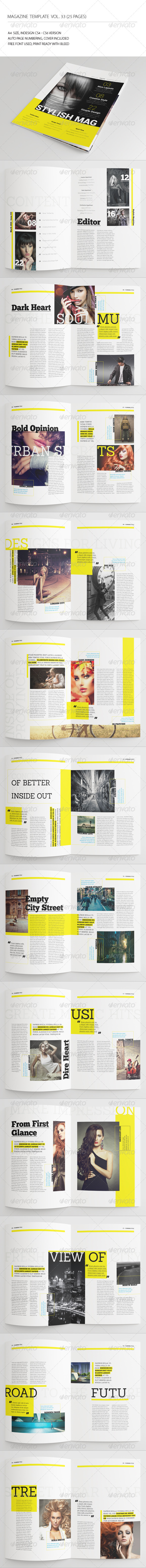 25 Pages Urban Magazine Vol33 - Magazines Print Templates