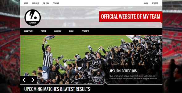 SPORTY – Responsive HTML5 Template for Sport Clubs