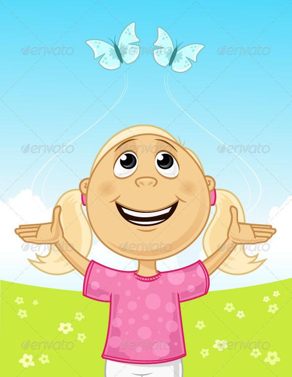Spring Joy - People Characters