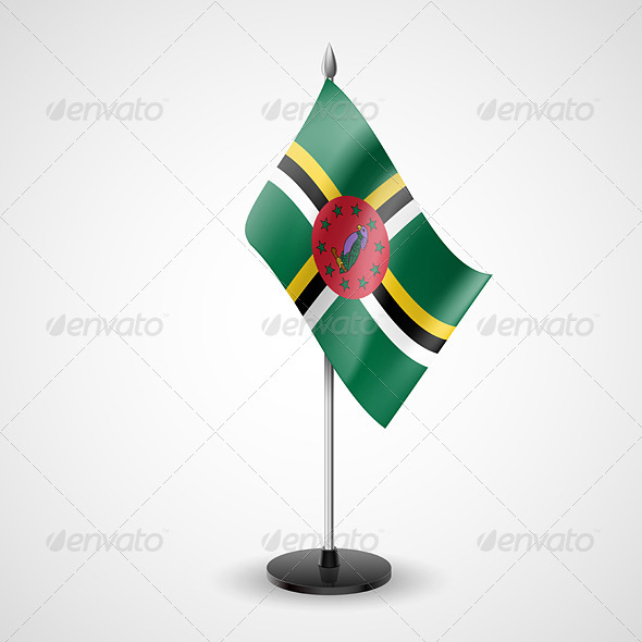 Table Flag of Dominica - Miscellaneous Vectors