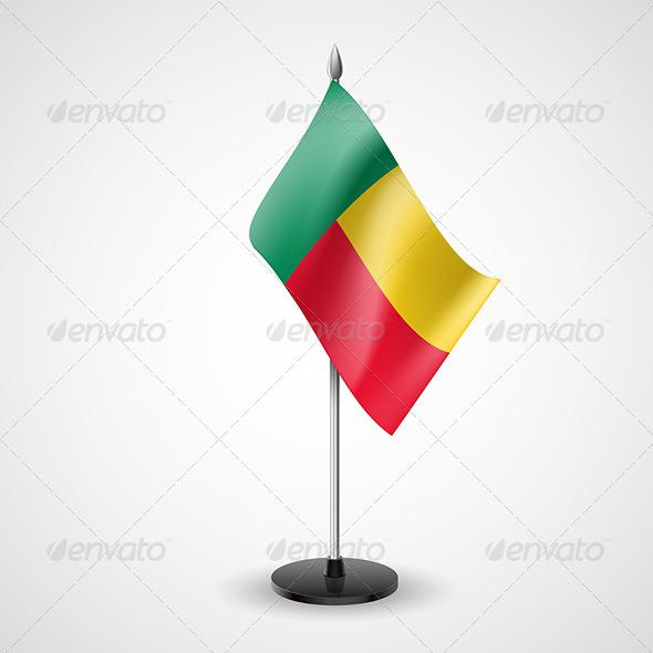 Table Flag of Benin - Miscellaneous Vectors