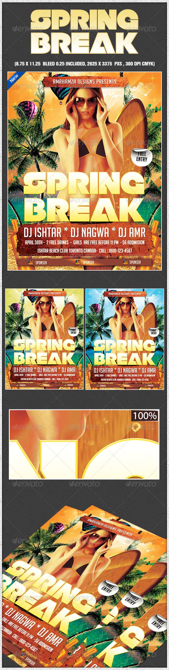 Spring Break Surf Beach Club Party - Holidays Events