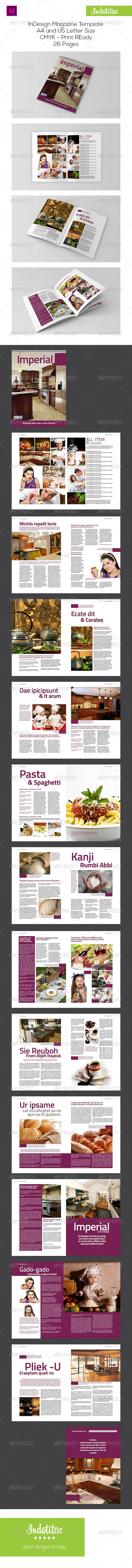 Kitchen InDesign Magazine Template - Magazines Print Templates