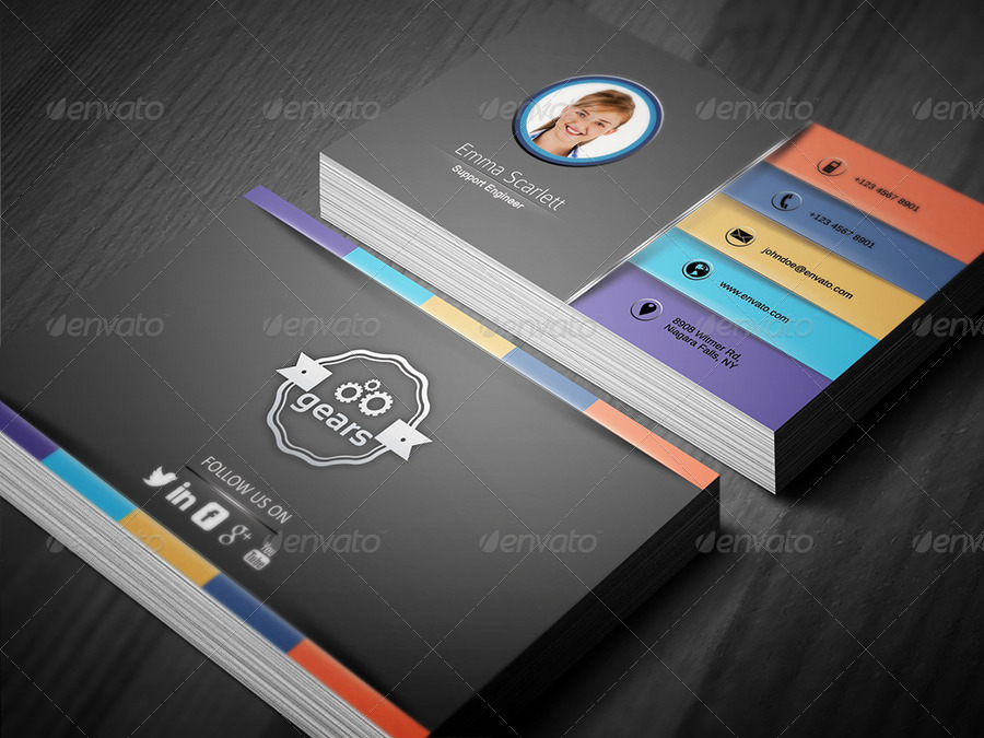 Civil Engineer Business Card 3 by ethanfx   GraphicRiver