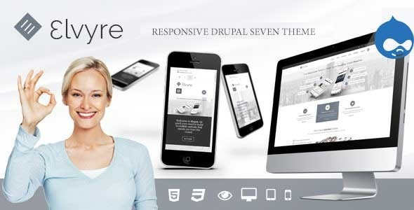 Elvyre – Responsive Drupal Theme nulled