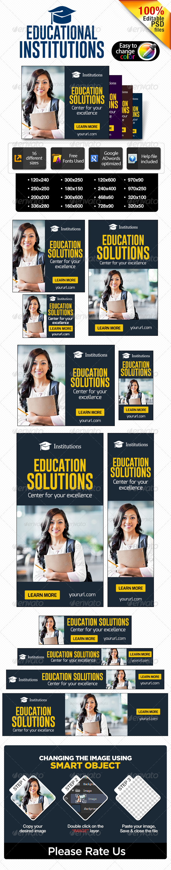Banners for educational institutions - Banners & Ads Web Elements