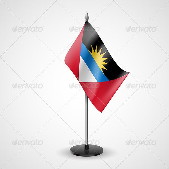 Table Flag of Antigua and Barbuda - Miscellaneous Vectors