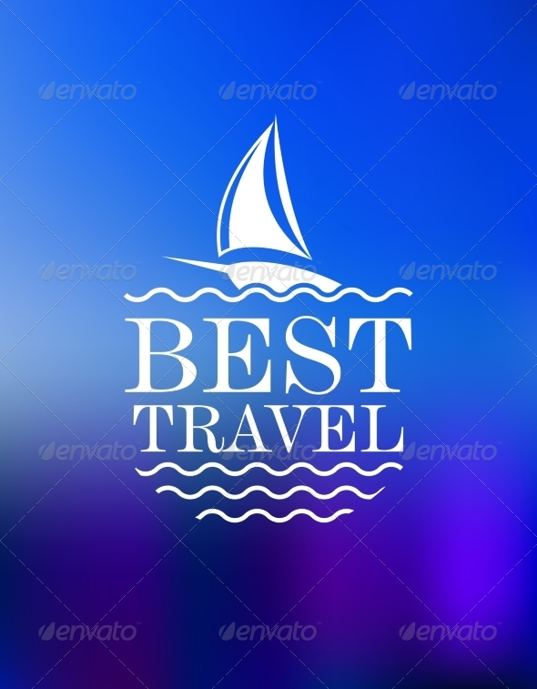 Yachting Symbol with Travel Header - Travel Conceptual