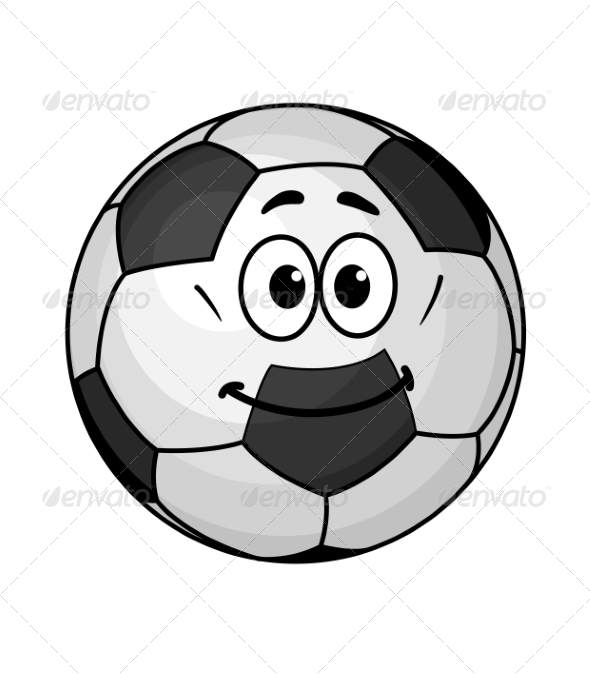 Cartoon Soccer Ball - Sports/Activity Conceptual