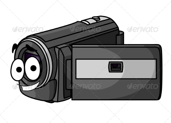 Happy Cartoon Video Camera - Media Technology