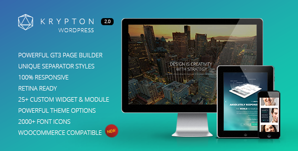 Krypton – Responsive Multipurpose WordPress Theme