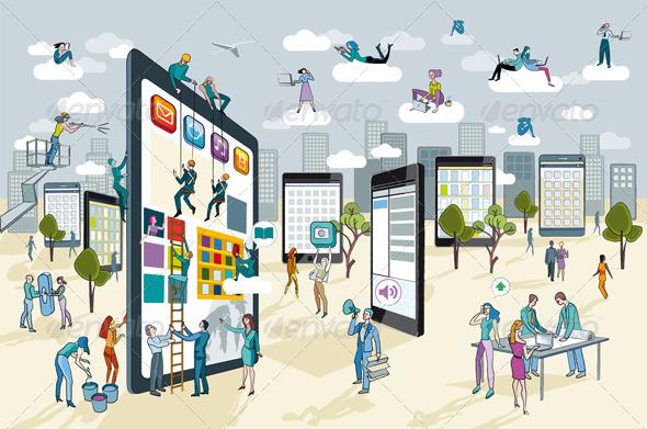 Large Digital Tablet - Technology Conceptual