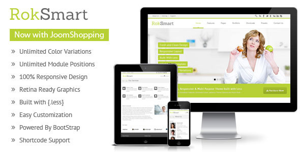 RokSmart - Responsive Multi-Purpose Joomla Theme
