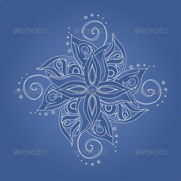 Abstract Floral Pattern - Backgrounds Decorative