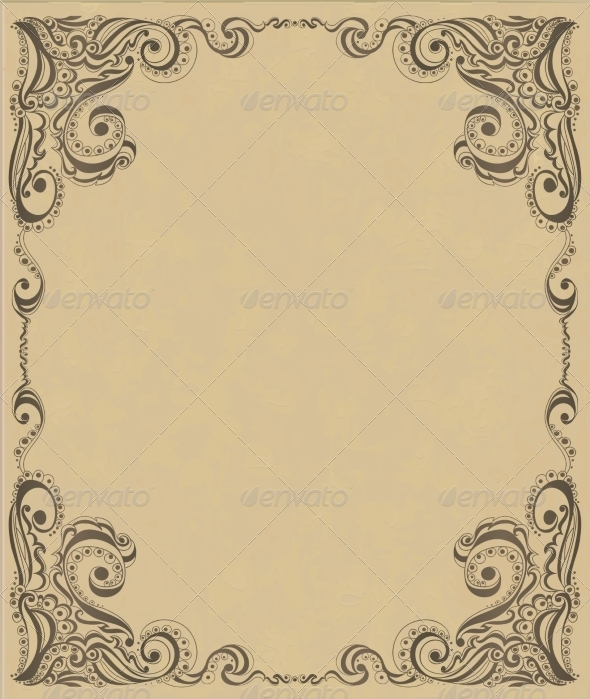 Template Frame Design for Card - Backgrounds Decorative