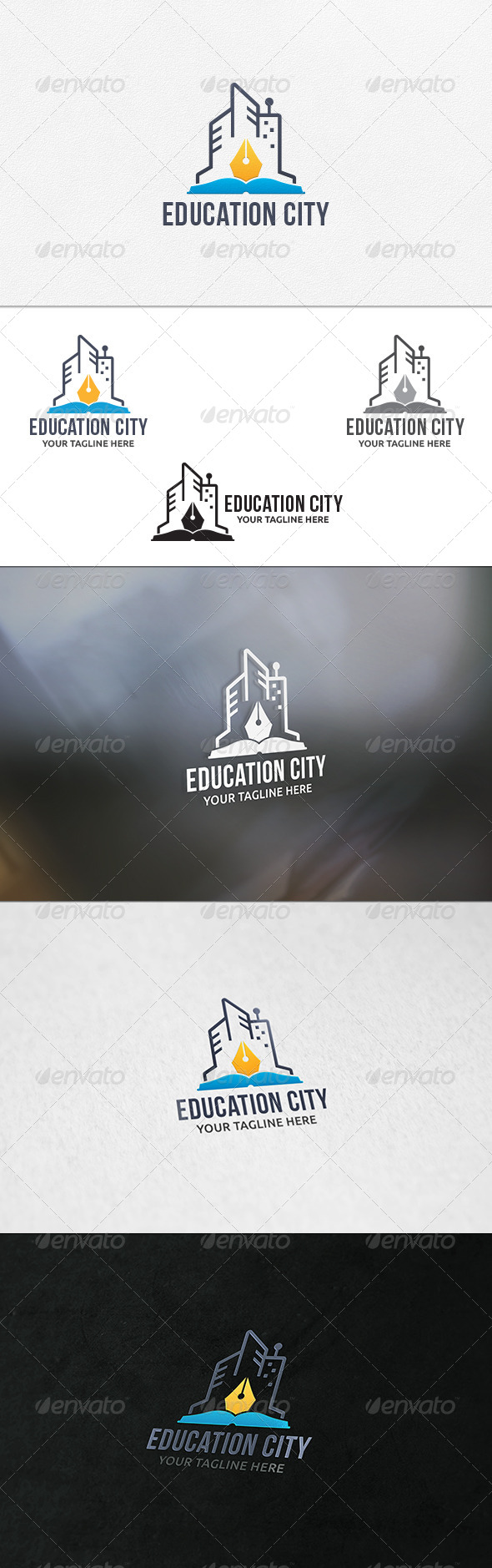 Education City - Logo Template - Buildings Logo Templates