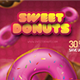 Sweet Donuts - Flyer PSD Template - GraphicRiver Item for Sale