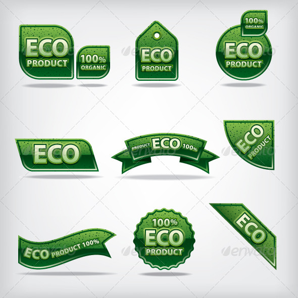 Eco Labels - Vectors
