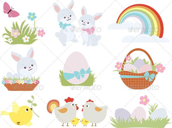 Easter Symbols - Seasons/Holidays Conceptual