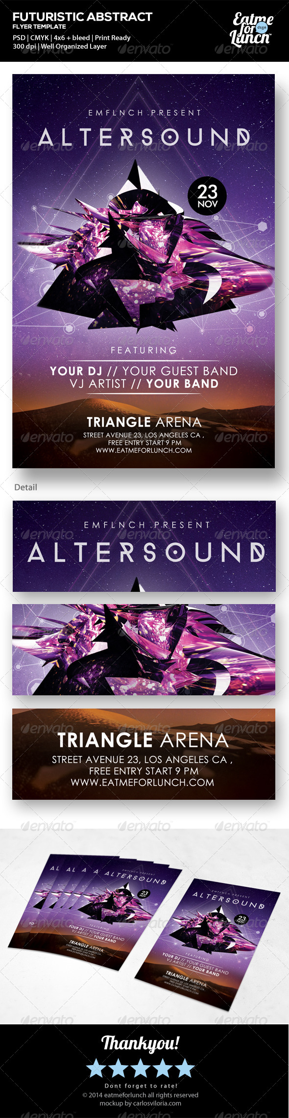 Futuristic Concert/Club/Gigs Flyer Templates - Events Flyers