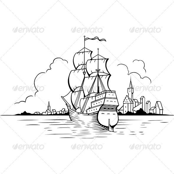 Sailboat - Travel Conceptual