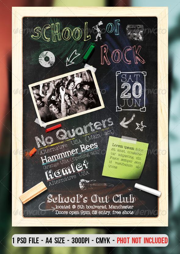 School Of Rock Flyer / Poster - Clubs & Parties Events